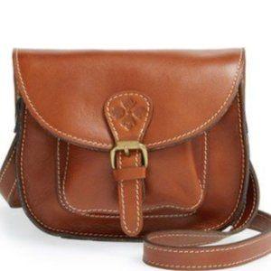 Patricia Nash Argos Brown Leather Saddlebag Crossbody Purse